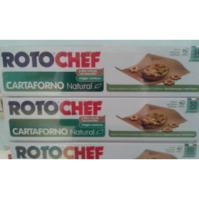 CARTA FORNO ECONATURAL  50 METRI  ALT 33CM   IN FIBRA NATURALE NON BIANCHITA