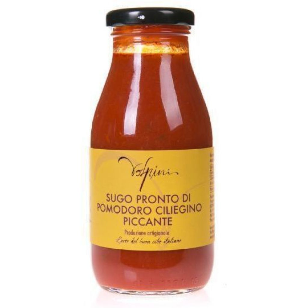 READY-MADE CHERRY TOMATO SAUCE SPICY 250 GR.